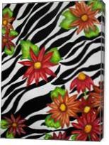 Floral Zebra Print - Gallery Wrap