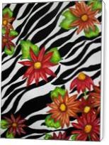 Floral Zebra Print - Standard Wrap
