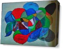 Modern Abstract Molecules As Canvas
