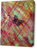 Modern Abstract Butterfly As Canvas