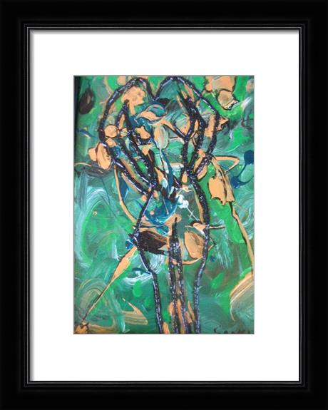 Modern Abstract Sihoulette Of A Woman