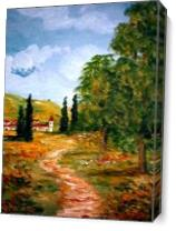 Country Road As Canvas