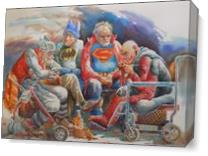 Super Heroes-Retired As Canvas