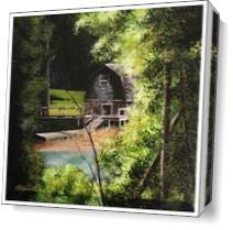 Boathouse ConcordMA As Canvas