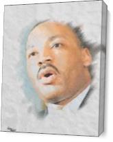 MLK Jr. I Have A Draem As Canvas