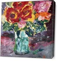 Roses Splash As Canvas
