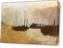 Red Baron in Fog I As Canvas