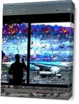 Departing Flights As Canvas