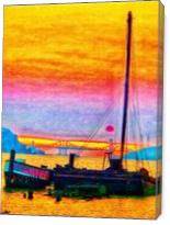 Red Baron At Sunset I - Gallery Wrap