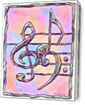Music Symbols 3 As Canvas