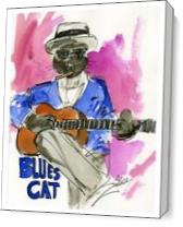 Blues Cat As Canvas