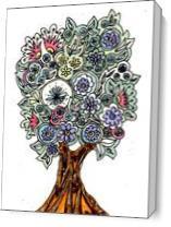 Decorative Tree As Canvas