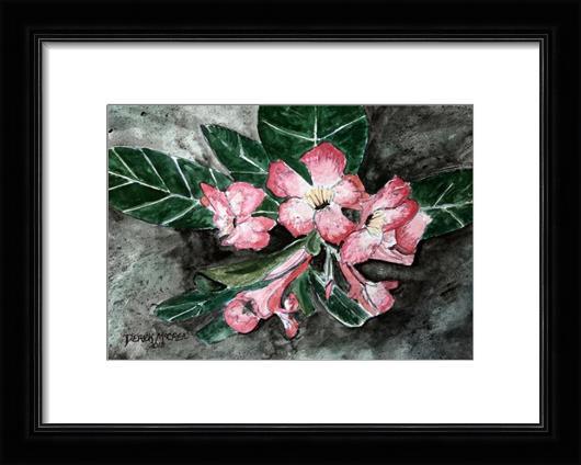 Desert Rose Flower Painting