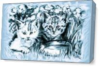 Cats Babies As Canvas