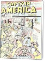 Captain America Versus Hitler Famous Retro Cover Comic Art - Standard Wrap