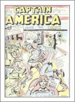 Captain America Versus Hitler Famous Retro Cover Comic Art - No-Wrap