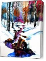 Winter Forest As Canvas
