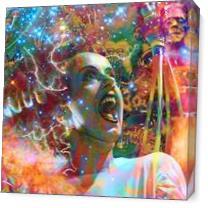 Bride Of Frankenstein As Canvas