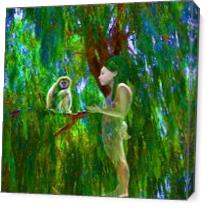 Jungle Connection As Canvas