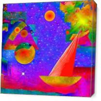 Voyage To The Stars As Canvas
