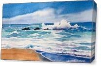 Wave Break As Canvas