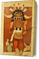Wooden Art As Canvas