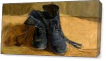 """""""Shoes"""" An Art Piece Inspired By Vincent Van Gogh As Canvas"""