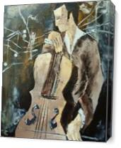 Cellist In Sepia As Canvas