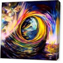 The Final Wave Lines Of Colors In Circular Spiral Motion As Canvas