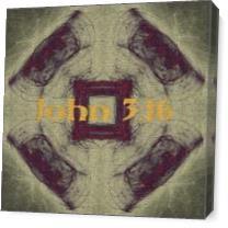 John 3:16 As Canvas