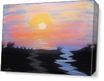 Florida Sunrise As Canvas