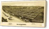 Aerial View Of Glassport, Pennsylvania (1902) As Canvas