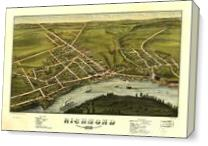 Aerial View Of Richmond, Maine (1878) As Canvas