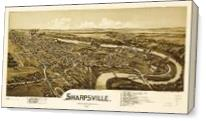 Aerial View Of Sharpsville, Pennsylvania (1901) As Canvas