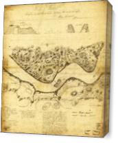 Original West Point Survey Map October 24th-27th 1783 As Canvas