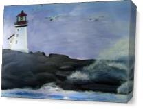 Lighthouse Bay As Canvas