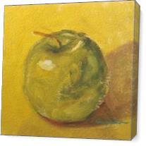 Manzana En Amarillo As Canvas
