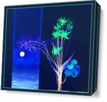 Moonlit Flowers 2 As Canvas