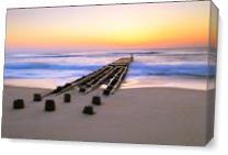 Old Pier At Dawn Nags Head Outer Banks North Carolina As Canvas
