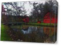 Woodland Barn As Canvas
