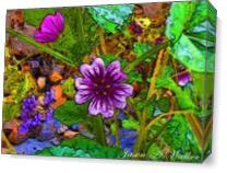 The Open Cartoon Flower As Canvas