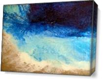 Large Textural Contemporary Abstract Beach Painting REVERIE As Canvas