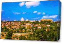 View Of Jerusalem From Old City. As Canvas