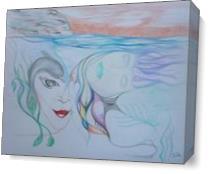 The Mermaid S Dream As Canvas