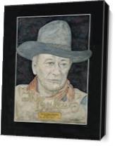 John Wayne As Canvas