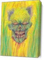 Zombie Art Illustration As Canvas