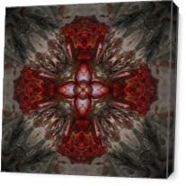 Gothic Cross As Canvas