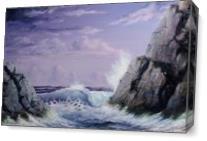 Crashing Wave As Canvas