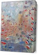 After Monet's Rue Montorgueil As Canvas