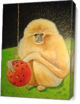 Psychic Monkey As Canvas